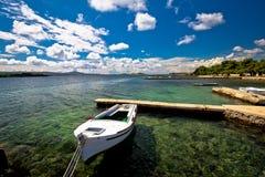 Biograd na moru beach and waterfront view Stock Images