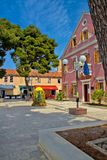Biograd na moru central square Royalty Free Stock Photography