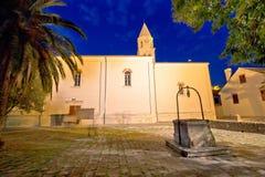 Biograd Na Moru old square and church Royalty Free Stock Image
