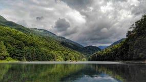 Biograd sjö fotografering för bildbyråer