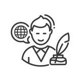 Biografie - moderne Vektorlinie einzelne Ikone des Designs Lizenzfreies Stockbild