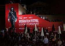 Biografilm festivalaffisch Fotografering för Bildbyråer