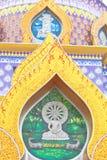 Biographie de Bouddha sur la pagoda colorée Images libres de droits