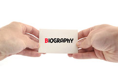 Biography text concept. Over white background Royalty Free Stock Image