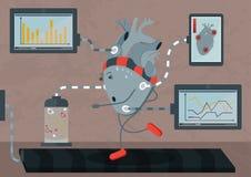 Biohacking - migliori il vostro corpo per vita più lunga illustrazione di stock