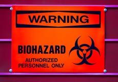 biohazard医疗符号警告浪费 图库摄影