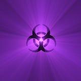 biohazard火光光符号警告 免版税图库摄影