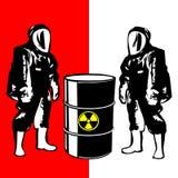 biohazard诉讼的人员 免版税库存图片
