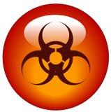 biohazard εικονίδιο κουμπιών Στοκ Εικόνες