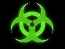 biohazard σημάδι Στοκ Φωτογραφίες