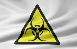 biohazard σημάδι Στοκ Φωτογραφία