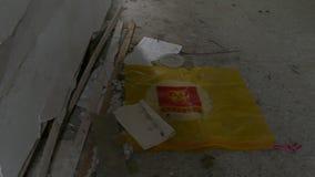 Biohazard στο εγκαταλειμμένο νοσοκομείο απόθεμα βίντεο