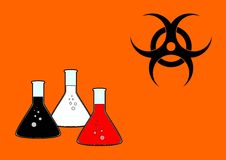 Biohazard. Theme background. Rasterized from vector format Stock Photography