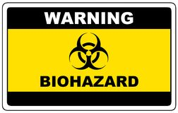 Biohazard, aviso do sinal do perigo ilustração royalty free