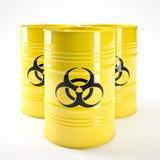 Biohazard barell Στοκ εικόνα με δικαίωμα ελεύθερης χρήσης