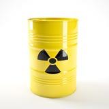 Biohazard barell. 3d image of yellow biohazard barell stock illustration