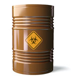 Biohazard barrel Royalty Free Stock Image