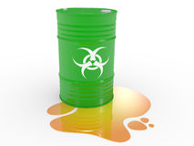 Biohazard barrels Royalty Free Stock Photos