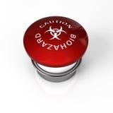 Biohazard button. A panic button for biohazard danger like flu Royalty Free Stock Photo