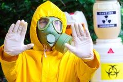 Biohazard chemik obrazy stock