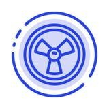 Biohazard, chemik, nauki linii linii błękit Kropkująca ikona royalty ilustracja