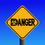 Biohazard danger sign Stock Images