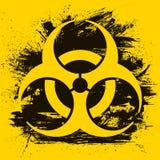 Biohazard dangerous sign on grunge background. Vector illustration.  stock illustration