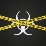 Biohazard de la cinta del peligro del ejemplo del vector Stock de ilustración