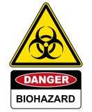 Biohazard, de waarschuwing van het gevaarsteken royalty-vrije illustratie