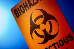 Biohazard: Desperdício infeccioso Imagem de Stock