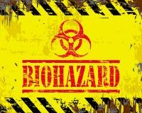 Biohazard-Emailleschild Stockfotografie