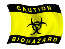 Biohazard flag Stock Photos