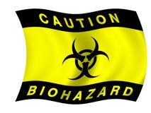 Biohazard flag stock illustration