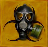 Biohazard gasmask Stock Photo