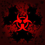 Biohazard grunge background Royalty Free Stock Images