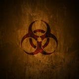 Biohazard,. Grunge biohazard symbol royalty free illustration