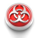 biohazard guzika ikona Obrazy Royalty Free