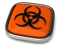 Biohazard icon. Isolated on white background Royalty Free Stock Photo
