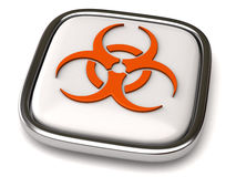 Biohazard icon. On white background Royalty Free Stock Images