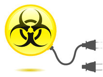 Biohazard icon with connector Stock Image