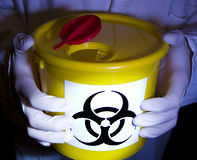 Biohazard in laboratory stock photo