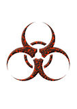 Biohazard lava. Symbol in white background Stock Image