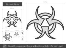 Biohazard line icon. Royalty Free Stock Photos