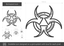 Biohazard line icon. Stock Photos