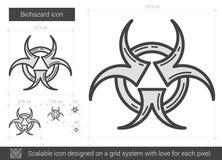 Biohazard line icon. Stock Images