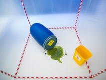 Biohazard plactis Behälter Lizenzfreie Stockbilder