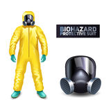 Biohazard Protective Suit Royalty Free Stock Photo