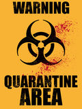 Biohazard quarantine area background. Illustration of biohazard quarantine area background Royalty Free Stock Photos