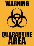 Biohazard quarantine area background. Illustration of a biohazard quarantine area background Royalty Free Stock Images