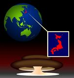 Biohazard radiactivo global en Japón Imagen de archivo